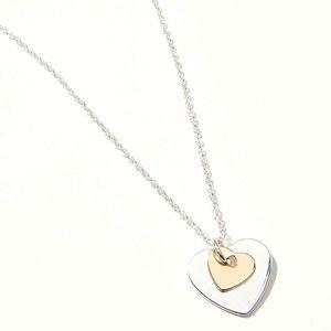 🍒3/$30 NWT Loft Double Heart Necklace